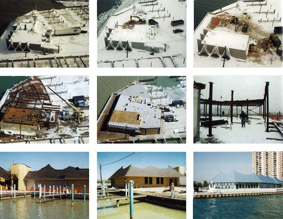 Windsor yacht club building process